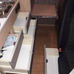 Mercedes Sprinter Março17 Cozinha Gavetas