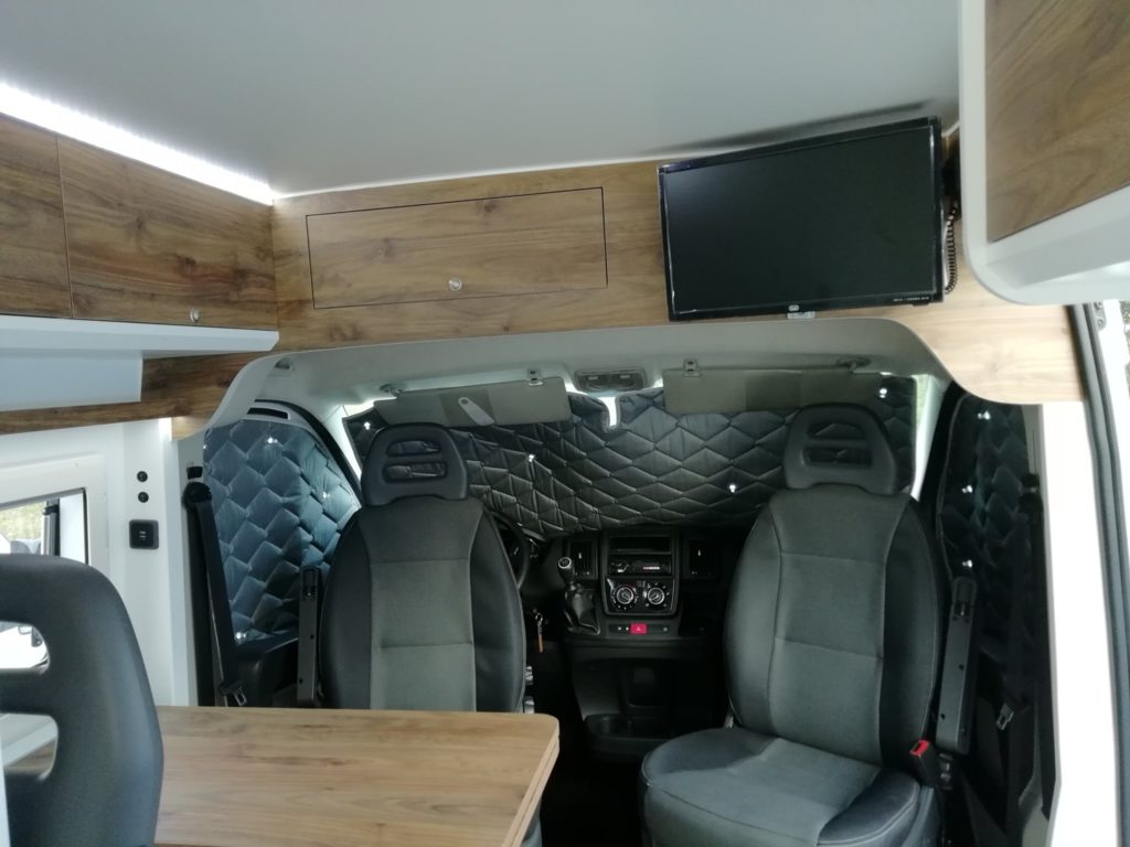 Fiat Ducato 3-2020 Interior Cockpit moveis e TV